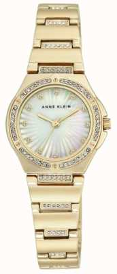 Anne Klein Womens Gold Tone Bracelet Mother Of Pearl Dial AK/N2416MPGB