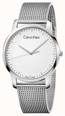 Calvin Klein Mens City Stainless Steel Mesh Strap Silver Dial K2G2G126