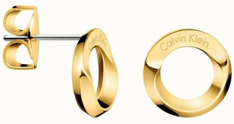 Calvin Klein Womens Beauty Gold Tone Stud Earings KJ4NJE100100