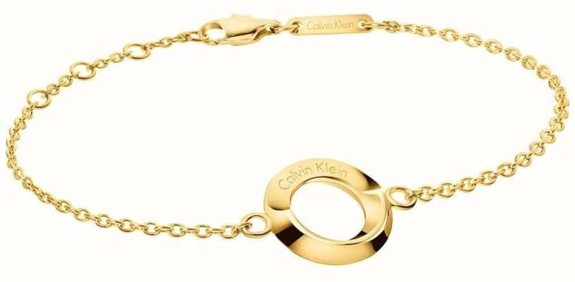 Calvin Klein Womens Beauty Gold Tone Bracelet KJ4NJB100100