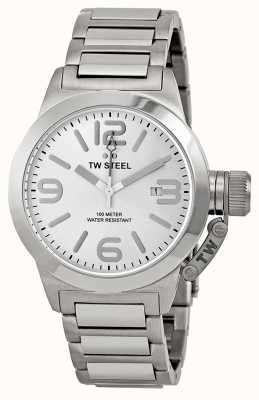 TW Steel Mens Stainless Steel Silver Canteen 3 Hand TW304