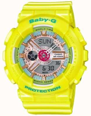 Casio Baby-G Yellow Resin Strap Digital BA-110CA-9AER