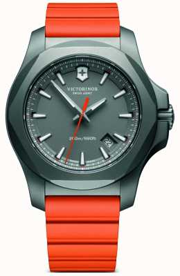 Victorinox Swiss Army I.N.O.X. Titanium Case Orange Rubber Strap Mens 241758