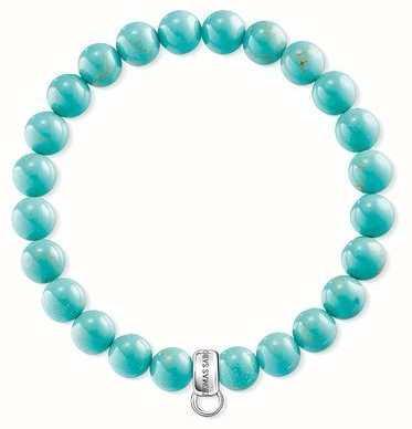 Thomas Sabo Turquoise Sterling Silver Charm Bracelet X0213-404-17-L15,5