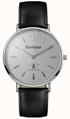 Barbour Mens Hartley Grey Dial Black Leather Strap BB055SLBK