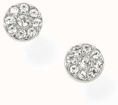 Fossil Womens Stainless Steel Stone Set Stud Earrings JF00828040