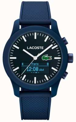 Lacoste Mens 12.12 Contact Bluetooth Smart Watch Blue Rubber 2010882