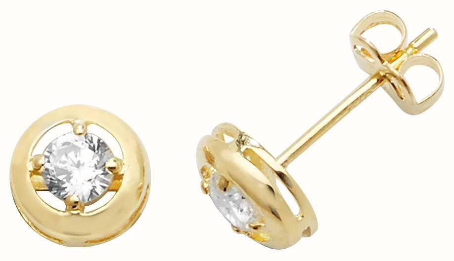 707a3b1fa Treasure House 9K YELLOW GOLD DIAMOND STUD EARRINGS ES472 - First ...