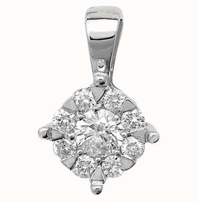 James Moore TH 9K White Gold Diamond Pendant PD128W