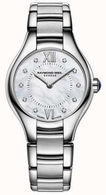 Raymond Weil Womans Stainless Steel 10 Diamond Mother Of Pearl Dial 5124-ST-00985