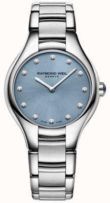 Raymond Weil Womans Noemia 12 Diamond Blue 5132-ST-50081