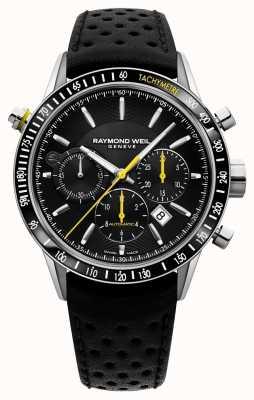 Raymond Weil Men's Automatic Black Chronograph Black Leather Strap 7740-SC1-20021