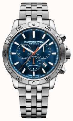 Raymond Weil Mens Tango 43mm Blue Chrongraph Dial Stainless Steel 8560-ST2-50001