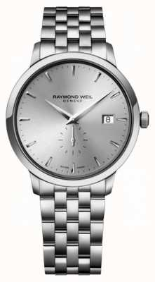 Raymond Weil Mens Quarts Slim Stainless Steel Siver Index Dial 5484-ST-65001