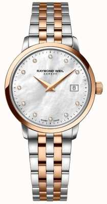 Raymond Weil Womans Two Tone Rose Gold Diamond Dot 5988-SP5-97081