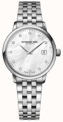 Raymond Weil Womans Toccata Quartz Stainless Steel Silver Diamond Dot 5988-ST-97081