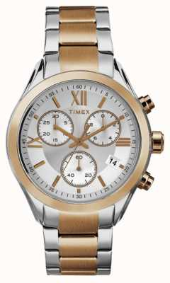 Timex Womans Miami Chronograph Two Tone Rose Gold TW2P93800
