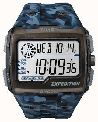 Timex Mens Expedition Grid Shock Blue Camo TW4B07100