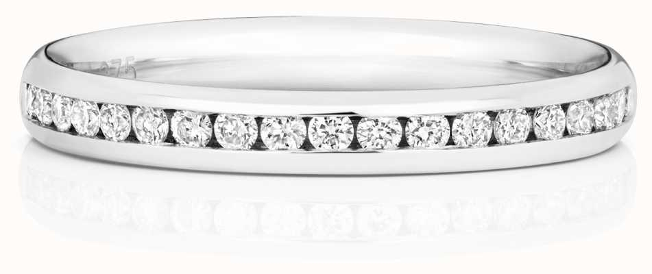James Moore TH 9k White Gold 50% Diamond Set Channel Eternity Ring W220W
