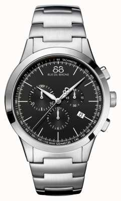 88 Rue du Rhone Ex-Display Rive Mens Chronograph Black Face Stainless Steel 87WA154307-EX-DISPLAY