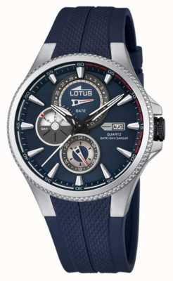 Lotus Lotus Mens Multifunctional Watch, Blue Rubber Strap L18318/2