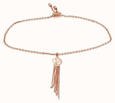 Project D Women's Rose-Tone Sterling Silver Logo Charm Bracelet PDLJ/2/B/2