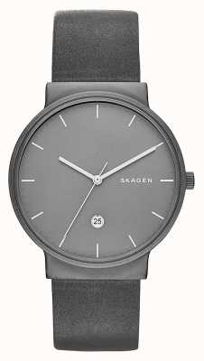 Skagen Ancher Titanium & Leather Watch SKW6320