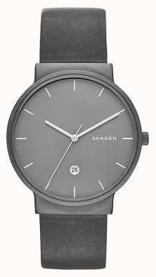 Skagen Ancher Titanium & Leather Watch SKW6320