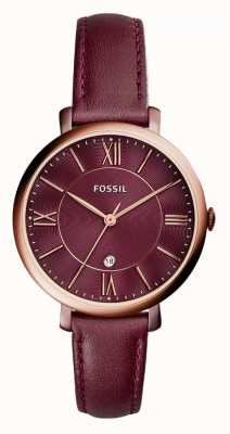 Fossil Ladies Jacqueline Red Leather Strap ES4099
