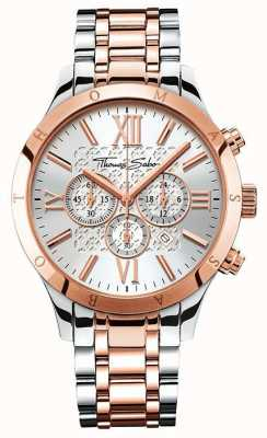 Thomas Sabo Mens Rebel Urban Chrono Rose Gold/Stainless Steel WA0225-272-201-43