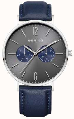 Bering Gents Blue Leather Watch 14240-803