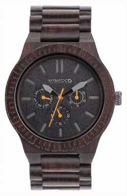 WeWood Mens Kappa Black Orange Wooden Black Strap 70315300