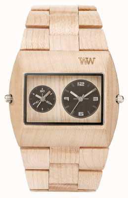 WeWood Mens Jupiter RS Beige Wooden Strap 70331200