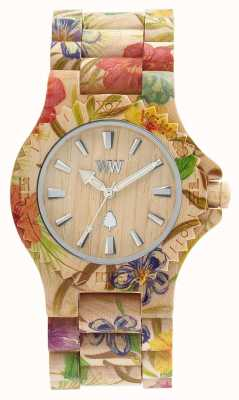 WeWood Womens Date Flower Beige Wooden Strap 70221200