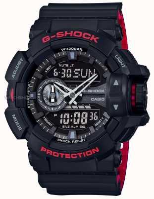 Casio Mens G-shock Alarm Chronograph Black Resin Strap GA-400HR-1AER
