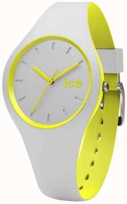 Ice-Watch Unisex Duo Grey Yellow Silicone DUO.GYW.U.S
