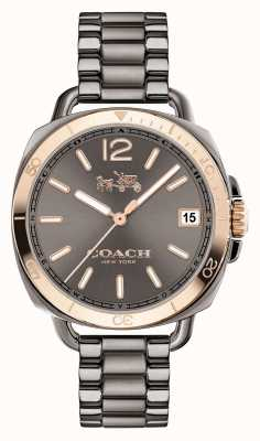 Coach Womens Tatum Grey Stainless Steel Grey Dial 14502597