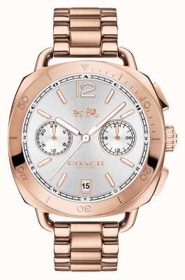 Coach Womens Tatum Rose Gold PVD Plated Silver Dial 14502604