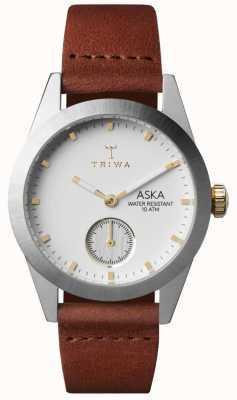 Triwa Womans Snow Aska Brown Leather AKST102-SS010213