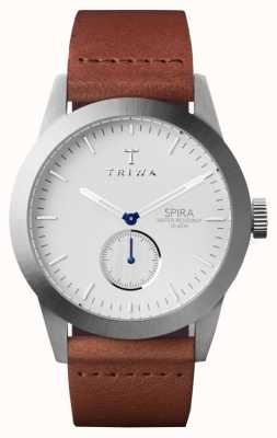 Triwa Mens Ivory Spira Brown Leather SPST102-CL010212