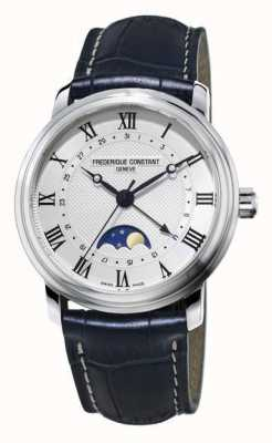 Frederique Constant Classics Automatic Moonphase Navy Blue leather strap FC-330MC4P6
