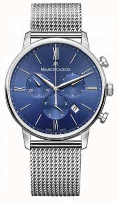 Maurice Lacroix Mens Eliros Chronograph Blue Mesh Strap EL1098-SS002-410-1