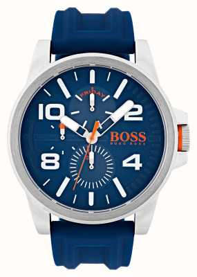 Hugo Boss Orange Detroit Blue Rubber day and date display Watch 1550008