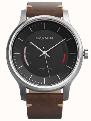 Garmin Mens Vivomove Leather Strap Black Brown 010-01597-20
