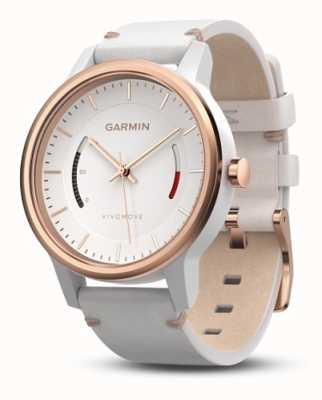 Garmin Unisex Vivomove Leather Band White 010-01597-11