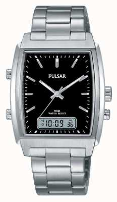 Pulsar Gents Stainless Steel Analogue/digital Watch PBK031X1
