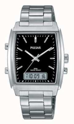 Pulsar Gents Stainless Steel Analogue/digital Watch PBK031X1