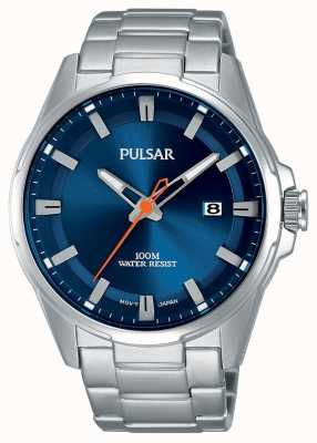 Pulsar Gents Stainless Steel Blue Face Watch PS9505X1