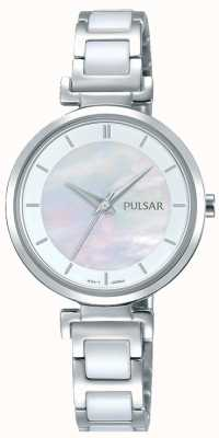 Pulsar Ladies Stainless Steel Ceramic Pearl Dial PH8269X1