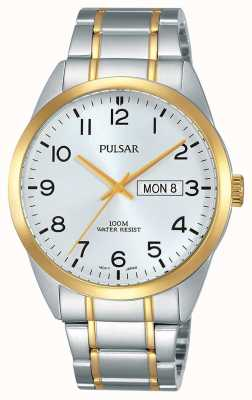 Pulsar Gents Two Tone Watch PJ6064X1